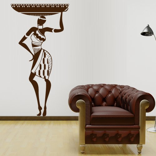 Wall Decal Vinyl Sticker Art Decor Design Woman Africa Lady Tribe Ethiopia Tribe People Beauty Family Bedroom Modern Fashion Mural