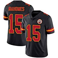 YMXBK Camiseta de Mujer NFL Jersey Emirates KansasCity Chiefs15# Mahomes 87# Kelce Ropa de fútbol Bordada de Manga Corta Top Deportivo