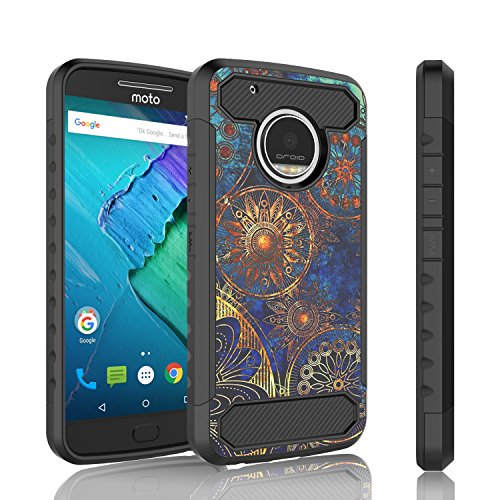 Moto G5 Plus Case, Tinysaturn [YCarbon Series] [Maya Disc] Hybrid Shock Absorbing Slim Rubber Defender Bumper Rugged Carbon Fiber Design [Drop Protection] Cover Case For Motorola Moto G Plus 5th Gen For Sale