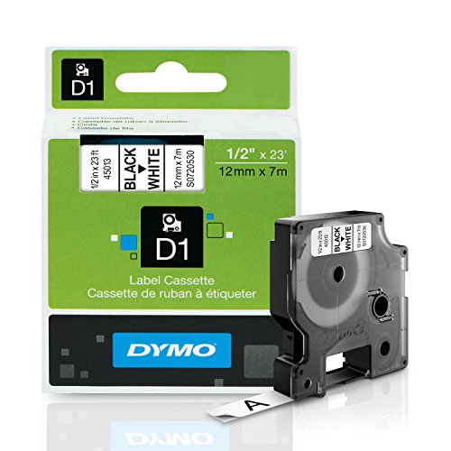 dymo-standard-d1-45013-labeling-tape-black-print-on-white-tape-1-2-w-x-23-l-1-cartridge