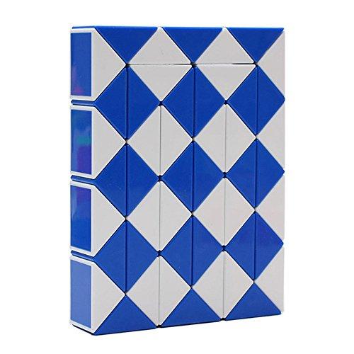 HJXDtech- XLX 48 Pièces Serpent magique Cube pliable Twist Jigsaw Puzzle Règle magique des couleurs Jouet (1 paquet de couleur aléatoire)