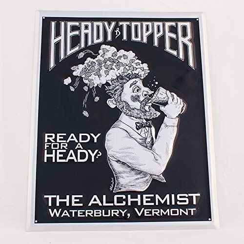 The Alchemist Vermont - Heady Topper Double IPA - Ready for a Heady Tin Bar Sign - Tacker (Best India Pale Ales)