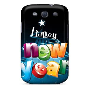 Series Skin Case Cover For Galaxy S3(happy New Year 3d Letters)
