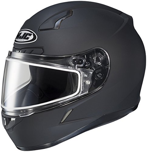 HJC CL-17 Motorcycle Helmet Matte Snow Black Size Large