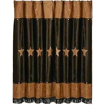 Western Patched Rustic Star Shower Curtain