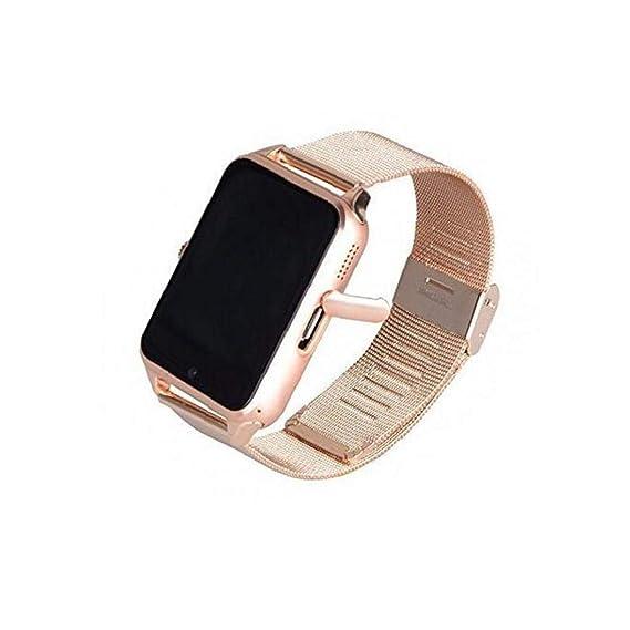 Las PC 1 Mujeres Z60 Bluetooth Inteligente Reloj Digital del Reloj Electrónico con El Acero del Brazal De La Cámara De Llamada SMS Perdido Anti Sueño ...