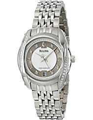 Bulova Womens 96R141 Precisionist Tanglewood Diamond Steel Bracelet Watch