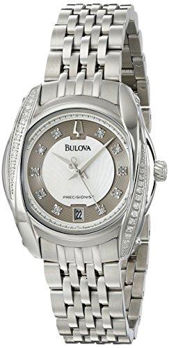 Bulova Women's 96R141 Precisionist Tanglewood Diamond Steel Bracelet Watch