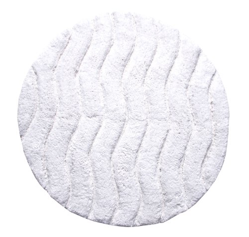 - Better Trends / Pan Overseas Indulgence 220 GSF 100-Percent Cotton Oversized Sculpted Tufted Bath Rug, 30-Inch, White