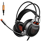 """Lemumu SADES Gaming Headset compatible with-929 with daily gaming and plug and play"""", Black"""