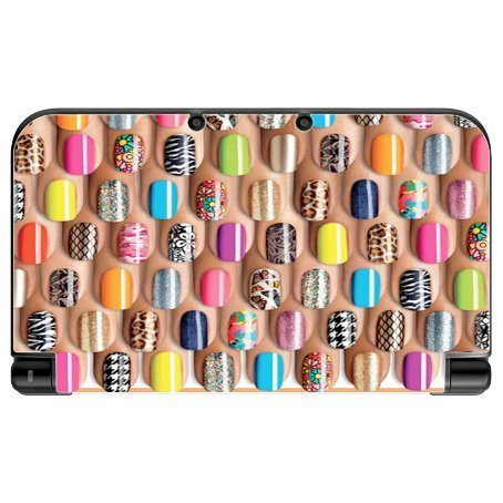 Price comparison product image Colorful Nail Polish Art Design Print Image New 3DS XL 2015 Vinyl Decal Sticker Skin by Trendy Accessories