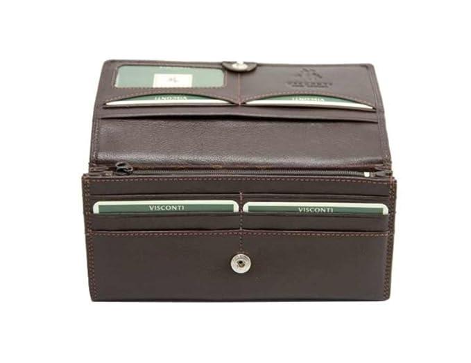 Visconti Heritage -35 grande de piel suave mujer monedero cartera: Amazon.es: Ropa y accesorios