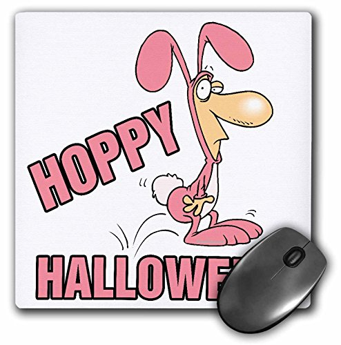 3dRose 8 x 8 x 0.25 Inches Hoppy Halloween Funny Bunny Costume Mouse Pad (mp_104216_1) for $<!--$3.55-->