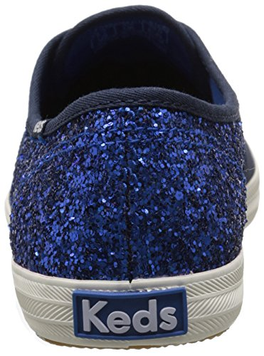 Keds Womens Champion 50/50 Glitter Fashion Sneaker Peacoat Blu Scuro / Blu