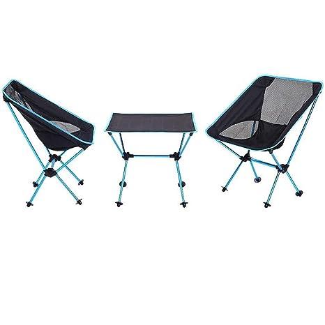 MEIEI Mesas y sillas plegables para acampar al aire libre ...