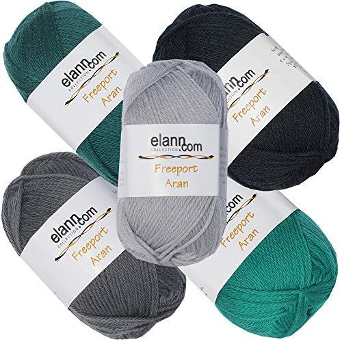 020 Yarn (elann Freeport Aran Yarn | 5 Ball Bag | CP4 133, 134, 138, 139, 020)