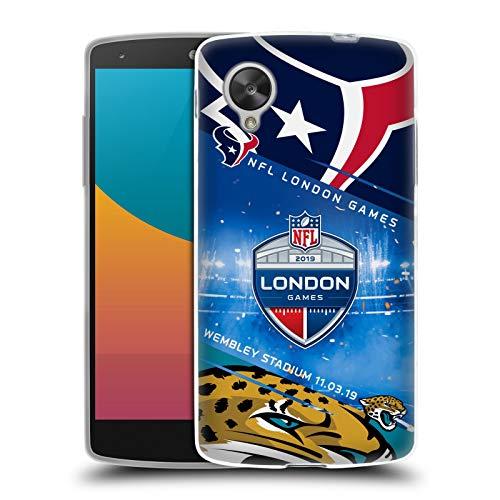 Official NFL Texans VS. Jaguars 2019 London Games Soft Gel Case Compatible for LG Nexus 5 (Google Nexus 5 Vs Lg Nexus 5)