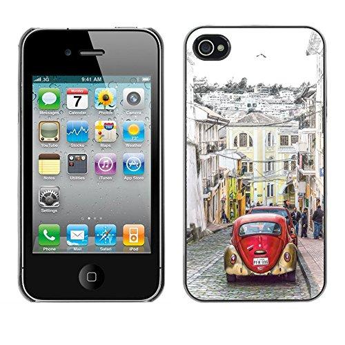 Premio Sottile Slim Cassa Custodia Case Cover Shell // F00017293 Equateur // Apple iPhone 4 4S 4G
