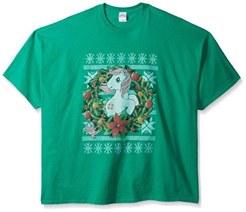 Hasbro Men's Big and Tall My Little Pony Ugly Christmas T-Shirt B&t, Kelly, 2XL