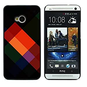 Graphic4You COLOR TRIANGLES PATTERN HARD CASE COVER FOR HTC One (M7)