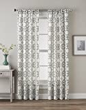 CHF 1Q82450ACK Lotus Harmony Curtain Panel, Charcoal, 95""