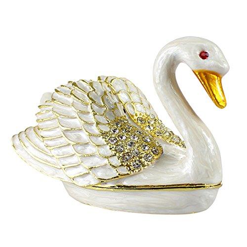 Pearl Swan Trinket Box (Box Swan Trinket)