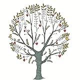 iMagitek Wedding Sign In Tree, Thumbprint Tree Wedding Fingerprint Guest Book Anniversary Birthday Party Signature With 6pcs Ink Pad