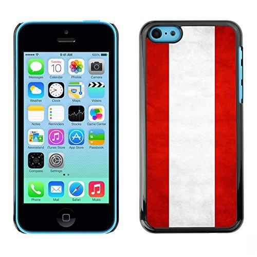 Omega Case PC Polycarbonate Cas Coque Drapeau - Apple iPhone 5C ( Austria Grunge Flag )