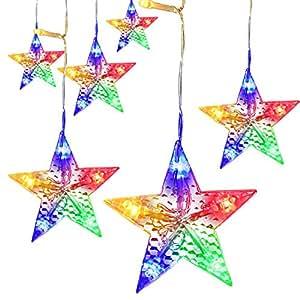 LightsEtc 280 LED String Light Curtain 9.8ft x 6.5ft Fairy Starry Multicolor Window Lights