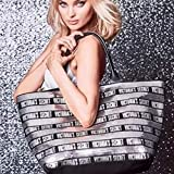 Victoria's Secret Black Friday Tote Large Black and Silver Sequins W A Small Zippere Bagd