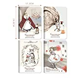 XuBa 4pcs/Set Mini Cute Kawaii Journal Diary Notebook Notepad Book for Kids Korean Stationery 72 cat