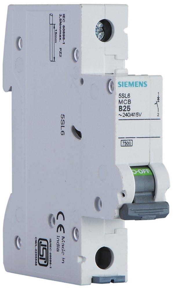 Siemens Plastic 16 A 1 Pole MCB (White)
