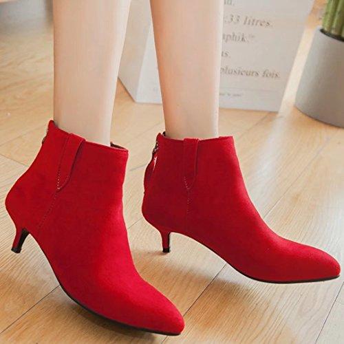 AIYOUMEI Women's Classic Boot Red ib6zhJIdh5