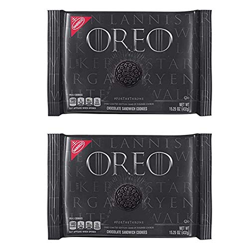 OREO Limited Edition Game of Thrones Themed Classic Chocolate Sandwich Cookies, 15.25 oz. - 2 pack (Best Limited Edition Games)