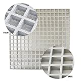 Eco Pultrusions FRP Sanded Anti-Slip Grating 48 inchx24 inchx1 inch Grey