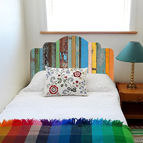 VanBest DIY Imitation Headboard Self-adhesive Decals Colorful