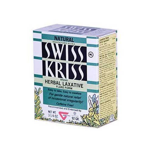 Swiss Modern Laxative Kriss Products (Modern Products Swiss Kriss Herbal Laxative Flake, 3.25 Ounce - 6 per case.)