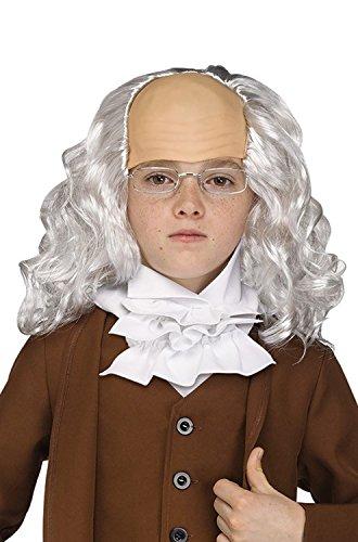 Mens Ben Franklin Wig with - Franklin Benjamin Inventor