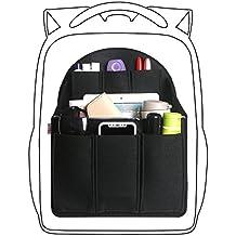 xhorizon SR Felt Insert Fabric Purse Organizer, Handbag Organizer, Backpack Purse and Travel Backpack Multi Pocket Bag in Bag Organizer for Tote & Handbag & Backpack, Multipocket Insert Bag