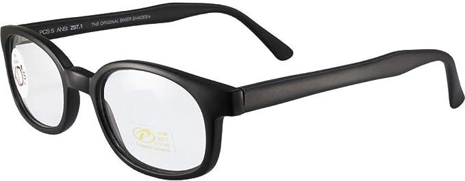 X-KDs Unisex-Adult Biker sunglasses Matte Black//Clear Lens
