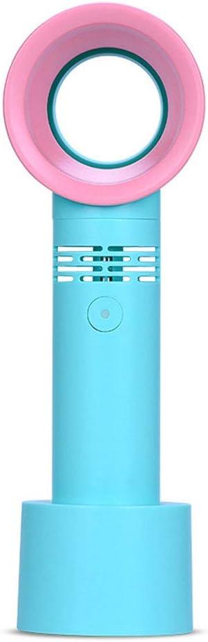 KKDWJ Ventilador sin Cuchilla del USB, Mini refrigerador portátil, de bajo Ruido Ajustable Velocidad del Viento 500mAh batería de Litio, Adecuado para la Familia, al Aire Libre,Verde