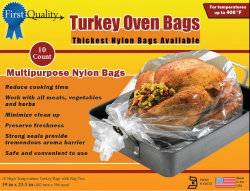 ) 19-Inch by 23-1/2-Inch Turkey Oven Bags 10 bags and Ties Per Box ()