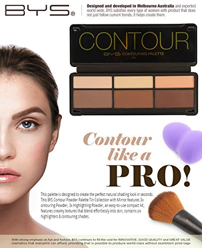 BYS Contour Palette (3x Contouring Powder, 3x Highlighting Powder) by BYS (Image #1)