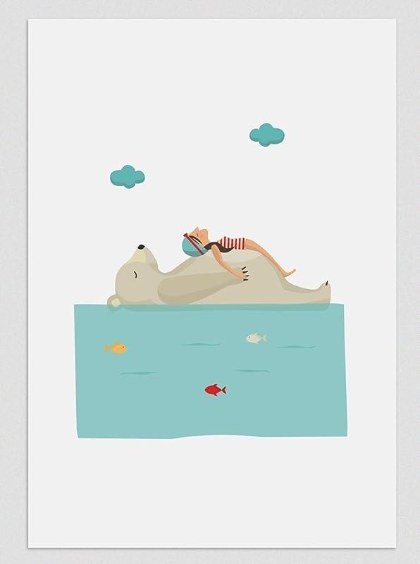 Relax en el Polo Norte. Ilustración, print, lámina (disponible ...