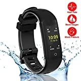 New Fitness Tracker, Smart Bracelet with Sport Mode, Health Tracker Activity Fitness Wristband Pedometer with Heart Rate Monitor for Bluetooth Android and iOS