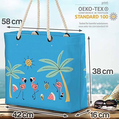 VOID Flamingo ö palmer strandväska Shopper 58 x 38 x 16 cm 23 L XXL shoppingväska väska resväska Beach Bag