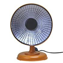 Sonmer Home Office Desktop Mini Electric Air Heater,220V,50W,Halogen Tube Warm Fan (Brown)