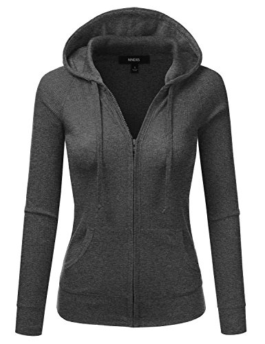 NINEXIS Women's Long Sleeve Casual Lightweight Hooded Therma