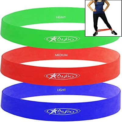 Aylio 3 Loop Bands for Exercise (Low, Medium, Heavy) from Aylio