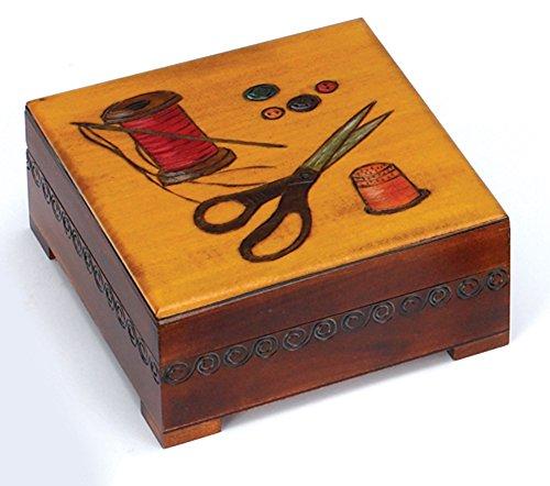 SEWING BOX, Beautiful Handmade Linden Wood Keepsake, Poland Wood Art, Exclusive Gift (Wedding Gift Idea, Mother's Day Gift Idea)
